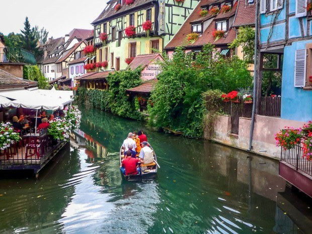 The canal in Colmar, France. You can take a boat ride on Sunday, even when most businesses are closed.