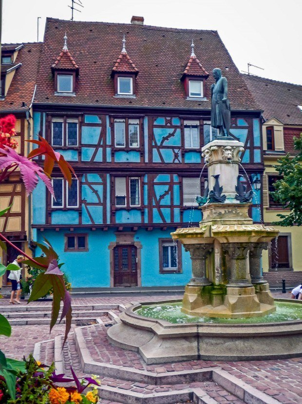 Statue in Colmar, France