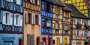 Half-timber houses in Colmar, France