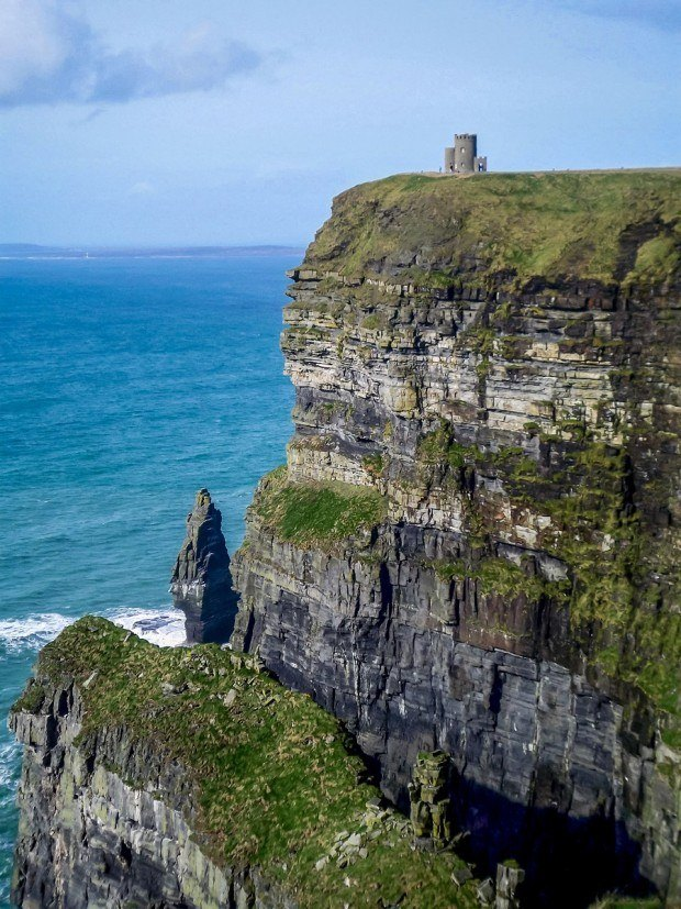 Cliffs of Moher and O'brien's Tower in Ireland