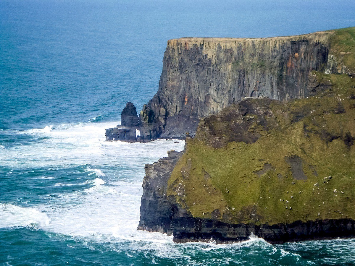 The Cliffs of Moher stretch along 8 km of Ireland's west coast