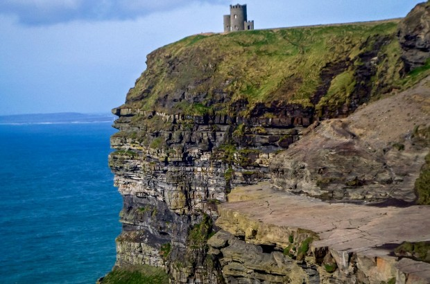The Cliffs of Moher are the most popular natural attraction in Ireland. On a clear day there, you can see all the way to the Aran Islands.