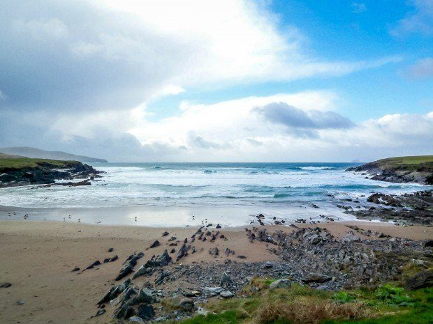 The coast on a drive of Ireland's Dingle Peninsula