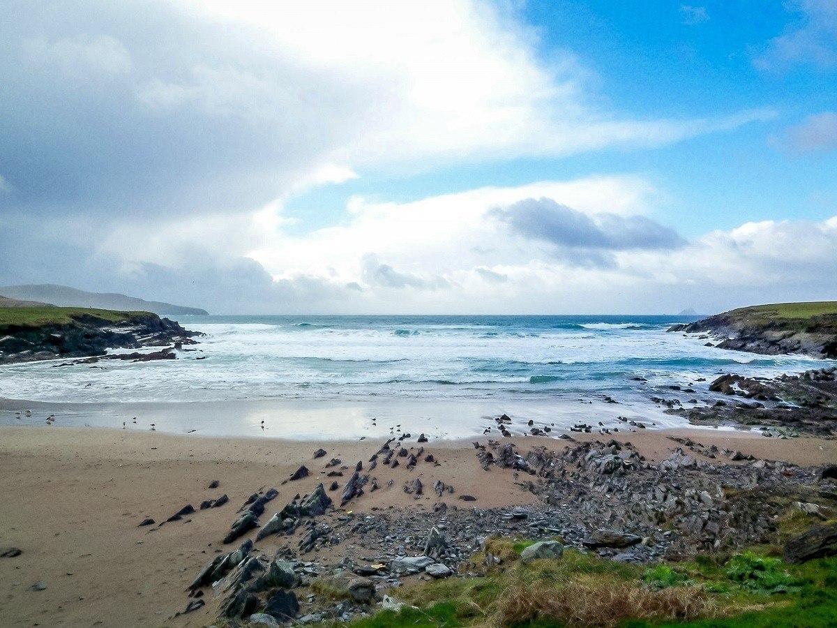 A small bay on the coastline of Ireland's Dingle Peninsula