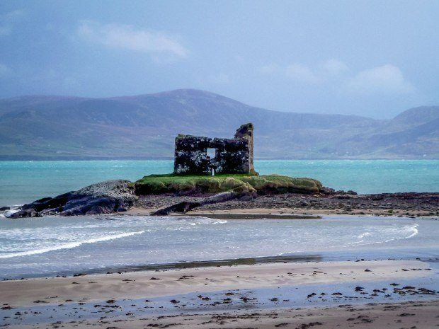 Ruins just off the coast of Dingle Peninsula in Irleand