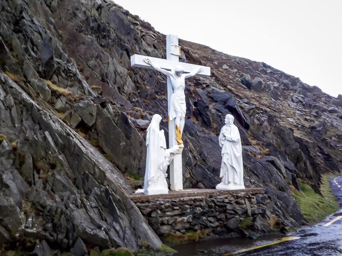 Crucifix statue in Ireland