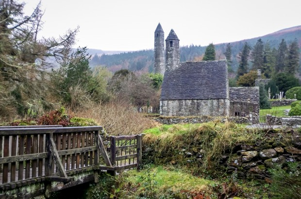 Glendalough monastery is an easy day trip from Dublin, Ireland.
