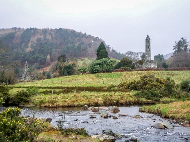 The round tower at Glendalough in Ireland