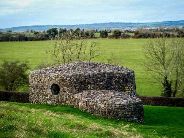 Stone building new Newgrange passage tomb