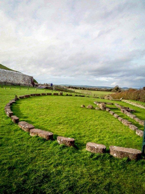 Stone outline near Newgrange passage tomb
