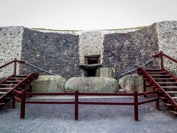 Entrance to Newgrange passage tomb in Ireland