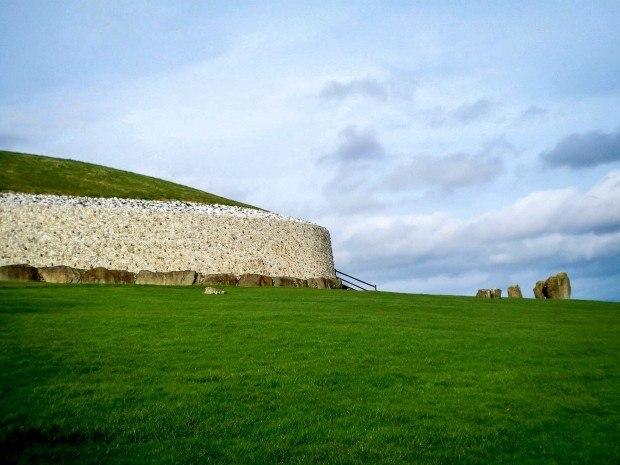 Side view of Newgrange passage tomb