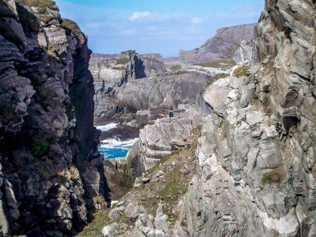 The gorge at Mizen Head in Ireland