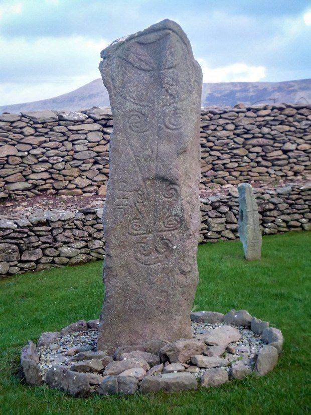 Ruins at Reasc Monastery on Ireland's Dingle Peninsula