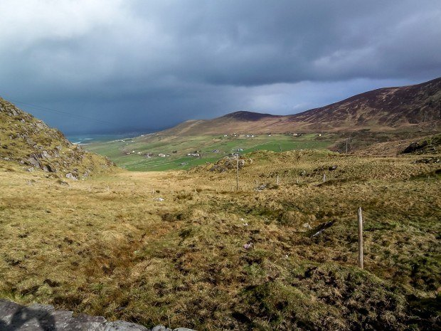 Driving through the rolling hills of Ireland's Ring of Kerry