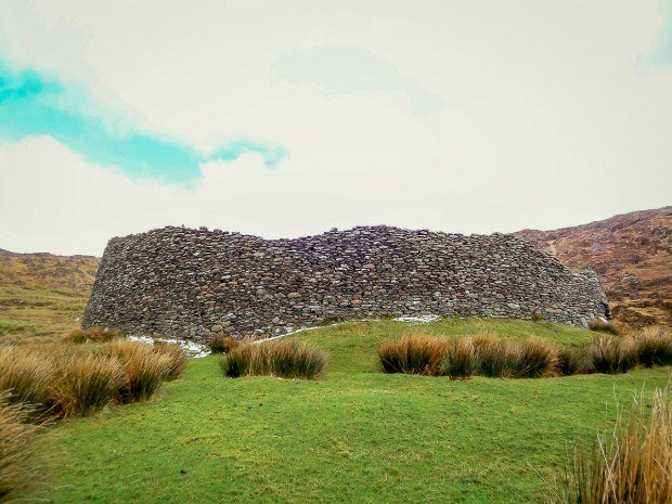 Staigue fort is one of many ancient stone structures on the Ring of Kerry and Dingle Peninsula