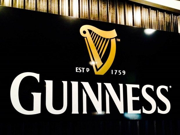 Black Guinness Storehouse sign at one of the most popular attractions in Dublin