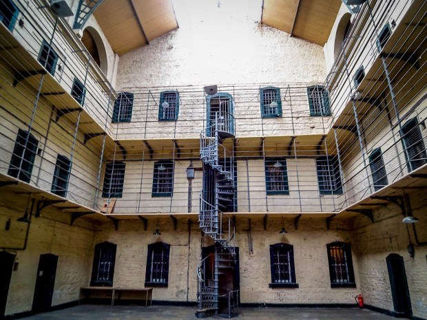 Interior of Kilmainham Gaol is one of the main Dublin attractions