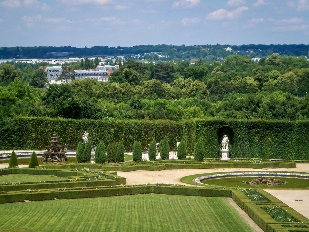 The Versailles gardens outside of Paris.