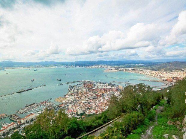The little port of Gibraltar, looking back to Spain.