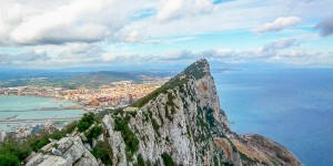 The summit of the Rock of Gibraltar.