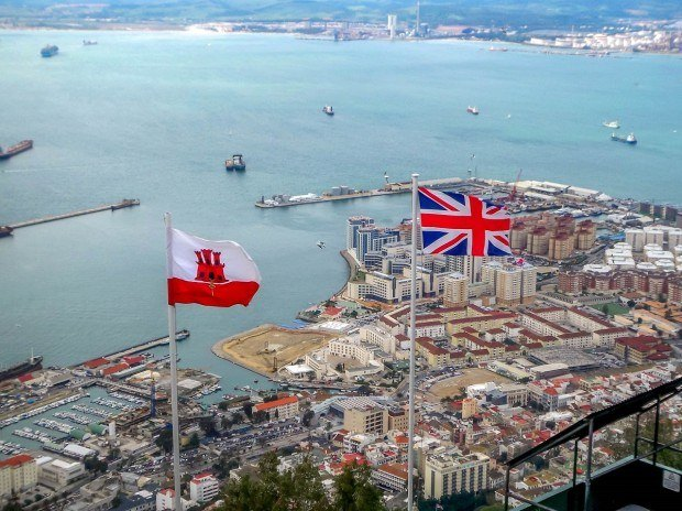 The view of Gibraltar from the summit of The Rock.