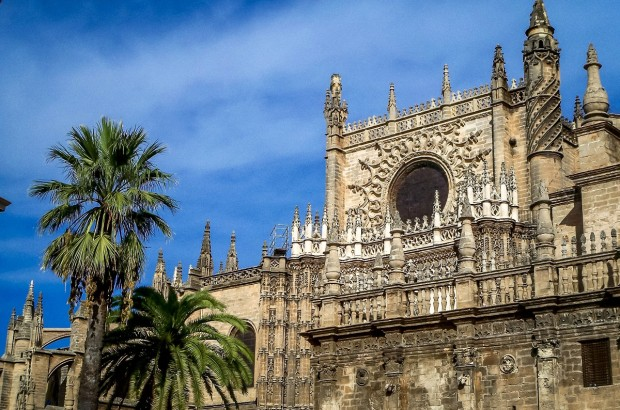 The Seville Alcazar - a royal palace built on the ruins of a Moorish palace.