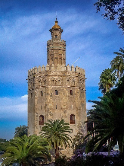 The Torre del Oro in Seville, Spain.