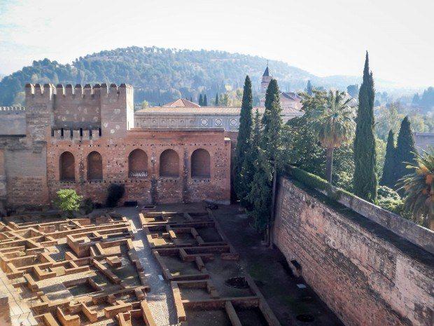 Inside the Alhambra fort in Granada, Spain