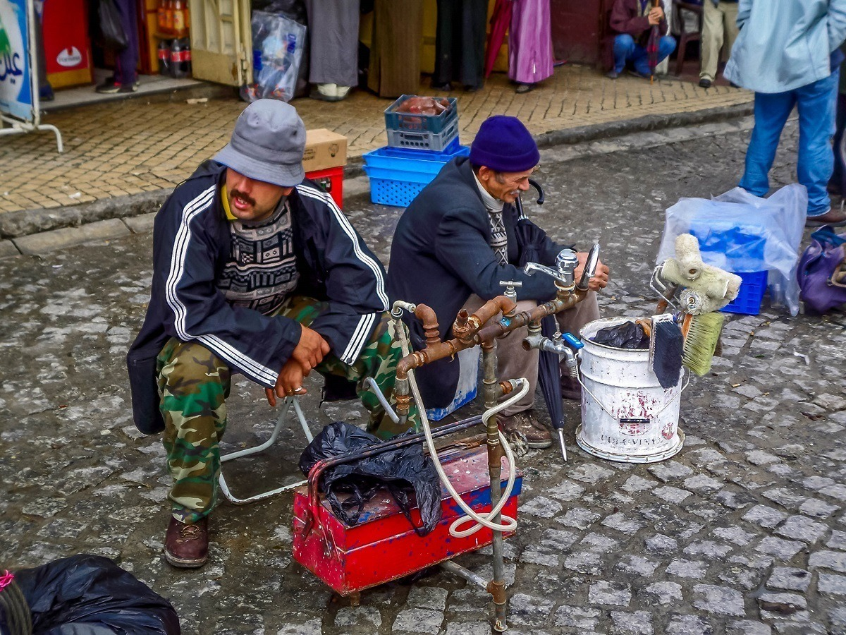 Workers for hire in Tangier, Morocco