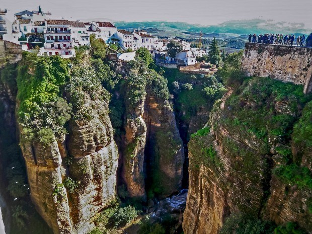 The deep gorges in Ronda, Spain.