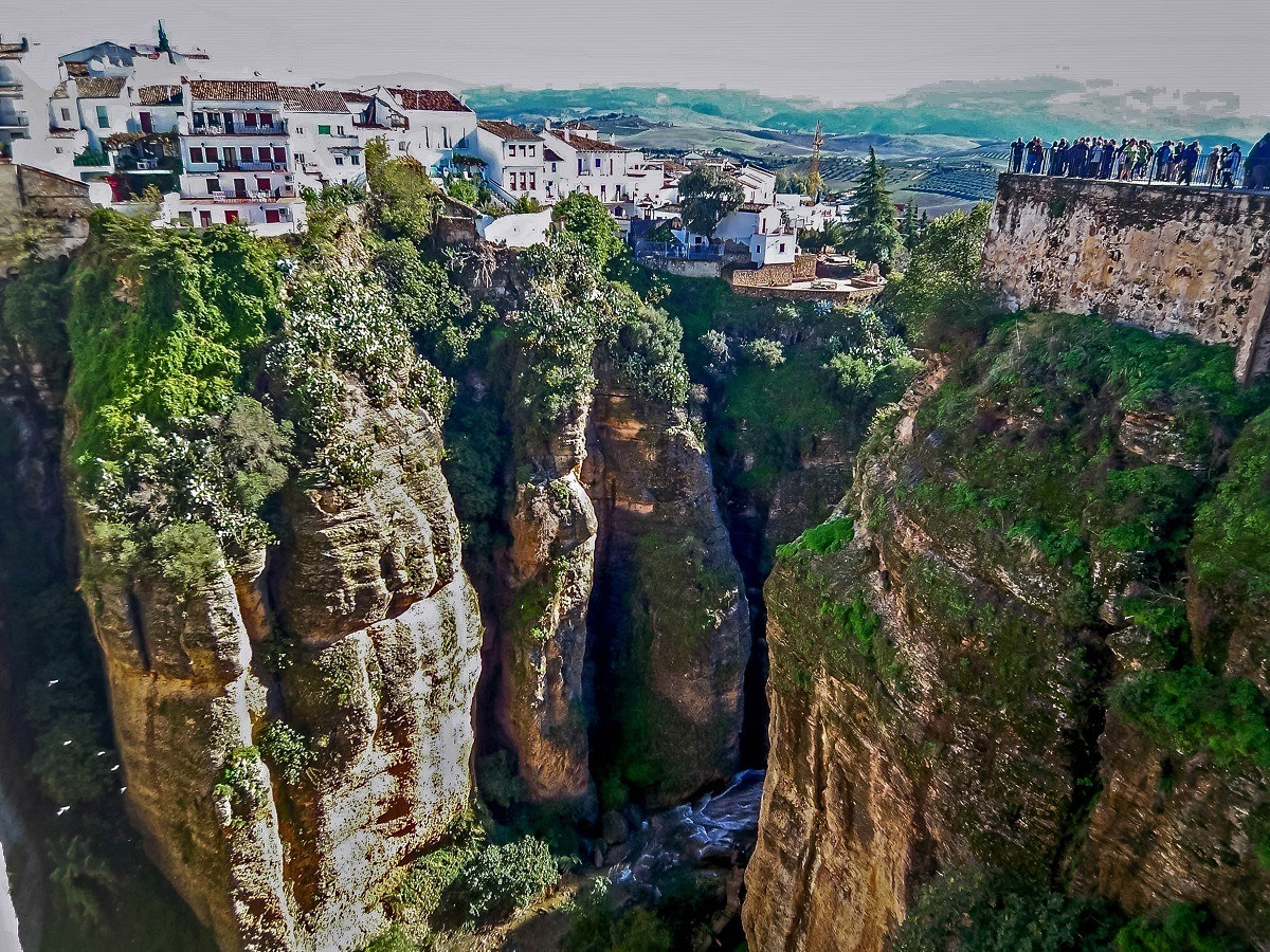 The deep gorges in Ronda