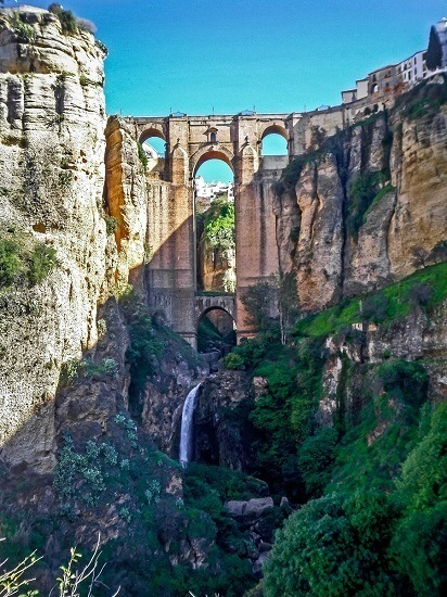 The Puente Nuevo in Ronda, Spain.