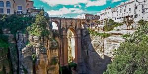 The Puente Nuevo bridge in Ronda Andalusia.