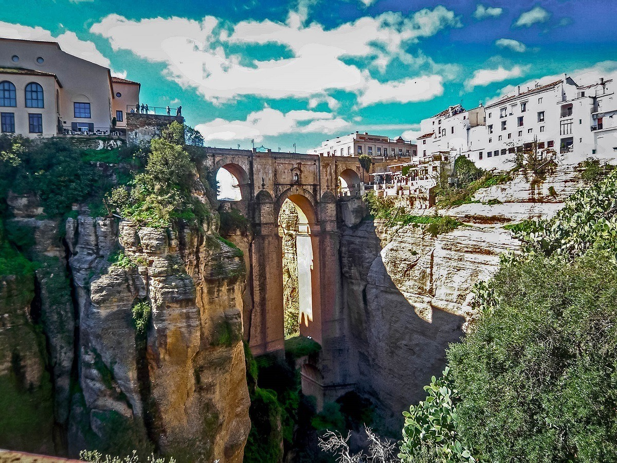 The Puente Nuevo bridge in Ronda Andalusia.