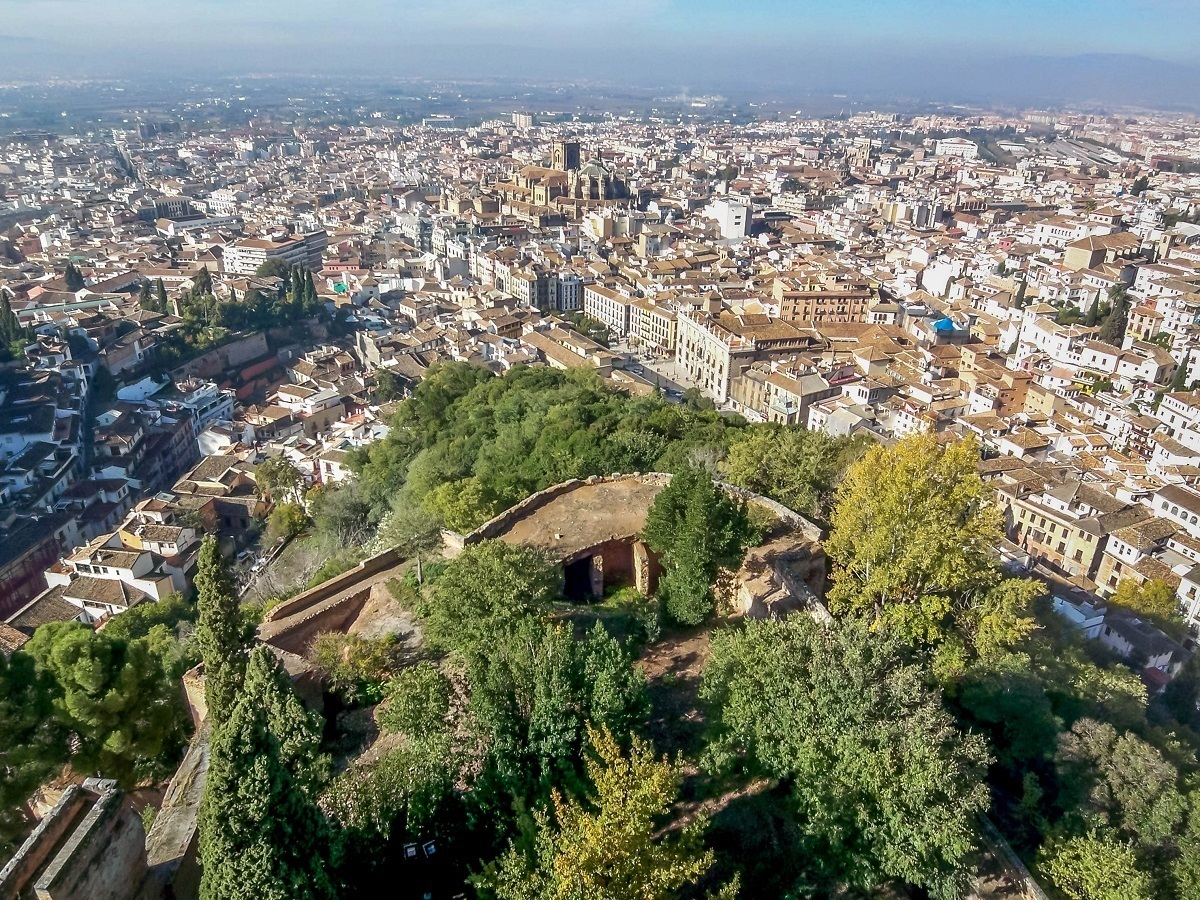 View from the Alhambra fort in Spain