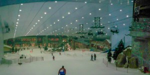 Inside Ski Dubai at the Mall of the Emirates.