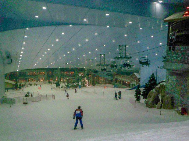 Inside Ski Dubai at the Mall of the Emirates.