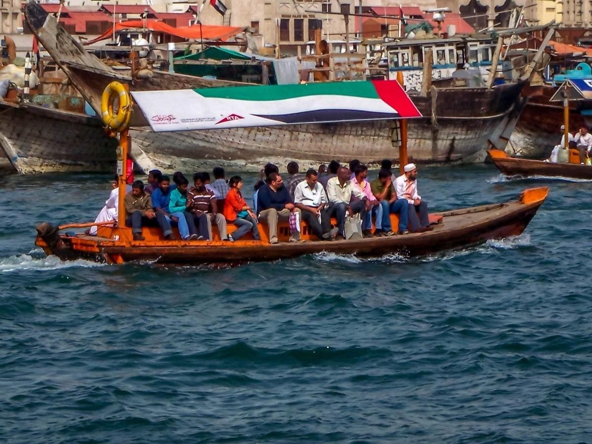 An abra boat on Dubai Creek