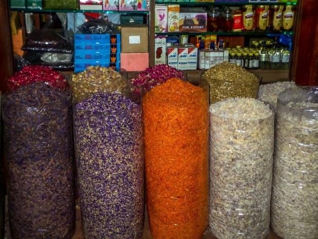 The Dubai spice market in Bur Dubai.