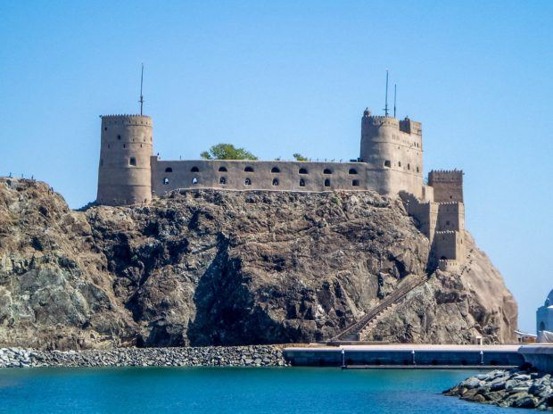 Of the many forts in Muscat, the Al Jalali Fort may be the most impressive and recognizable ancient fort in Oman.  Seeing the forts are one of the top things to do in Muscat.