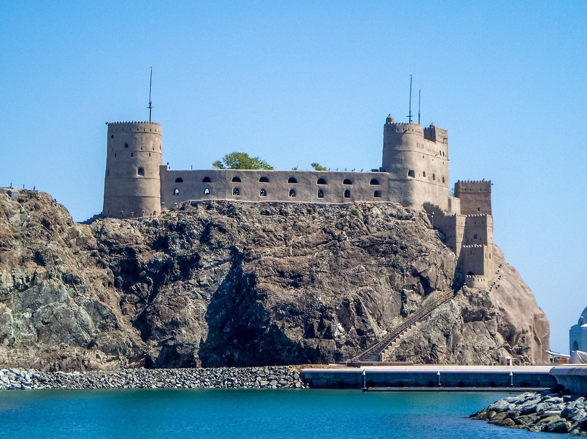 Of the many forts in Muscat, The Al Jalali Fort may be the most impressive. Seeing the forts are one of the top things to do in Muscat.