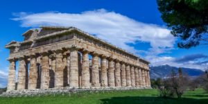 The temple ruins of Paestum, Italy.