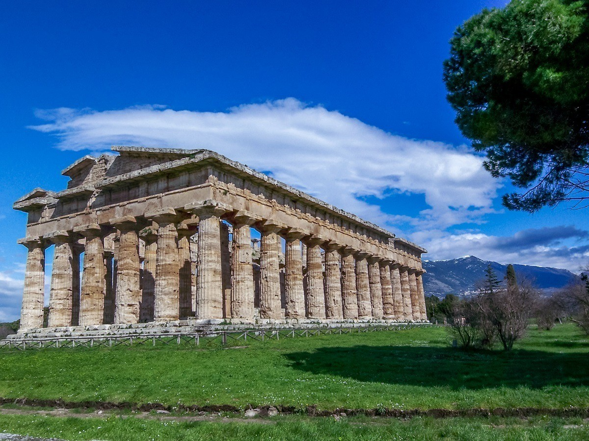 The temple ruins of Paestum, Italy