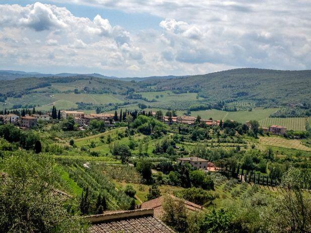 Views of Tuscany from San Gimignano, Italy