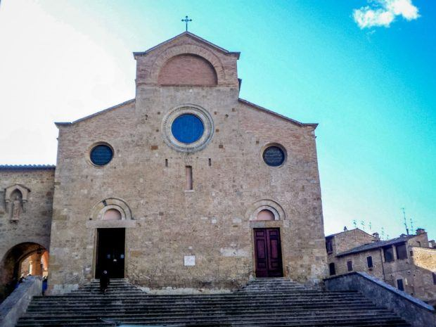 The cathedral in San Gimignano