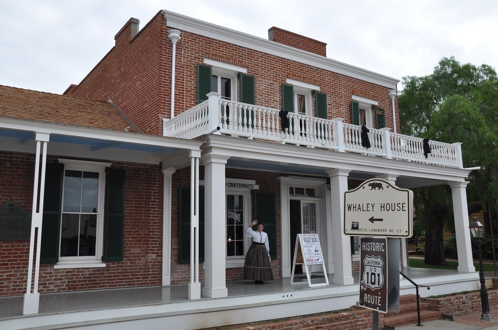 Driving past the Whaley House is a part of the in Old Town San Diego Trolley Tour - one of the San Diego Highlights