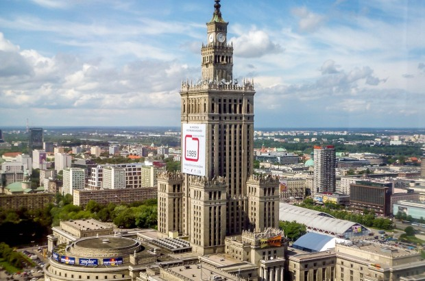 Warsaw's Palace of Culture and Science - the tallest building in Poland.