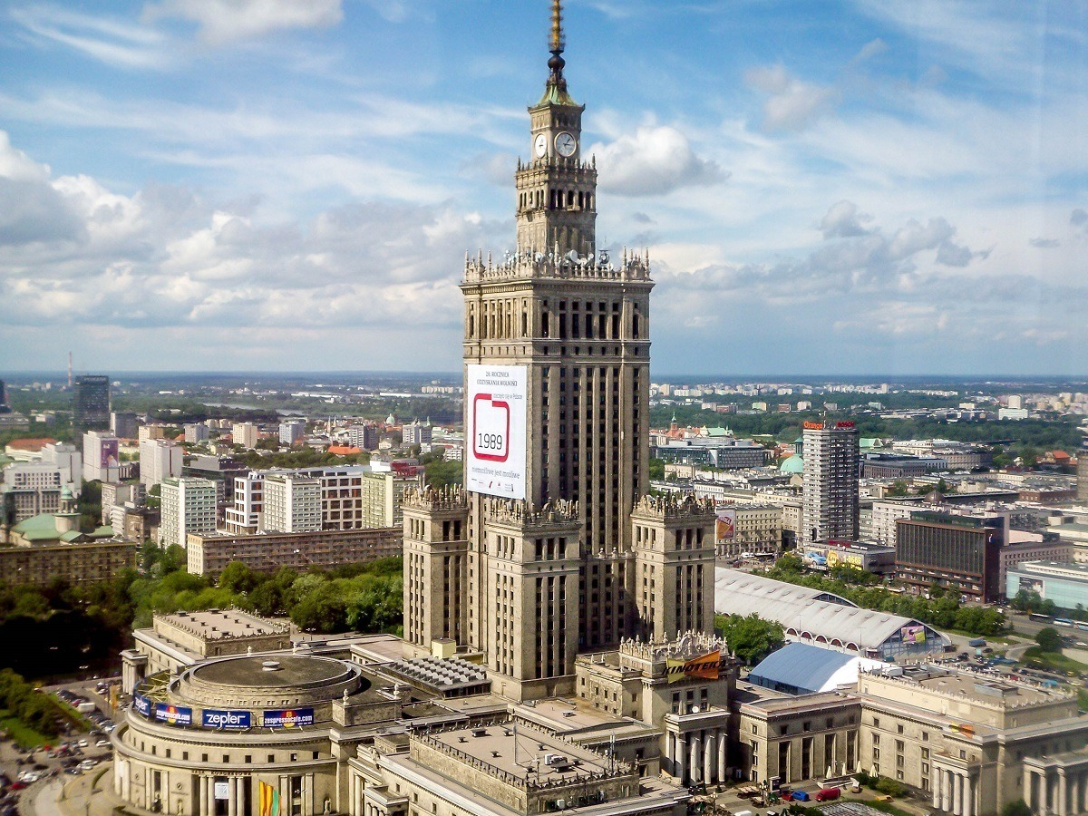 Warsaw's Palace of Culture and Science - the tallest building in Poland
