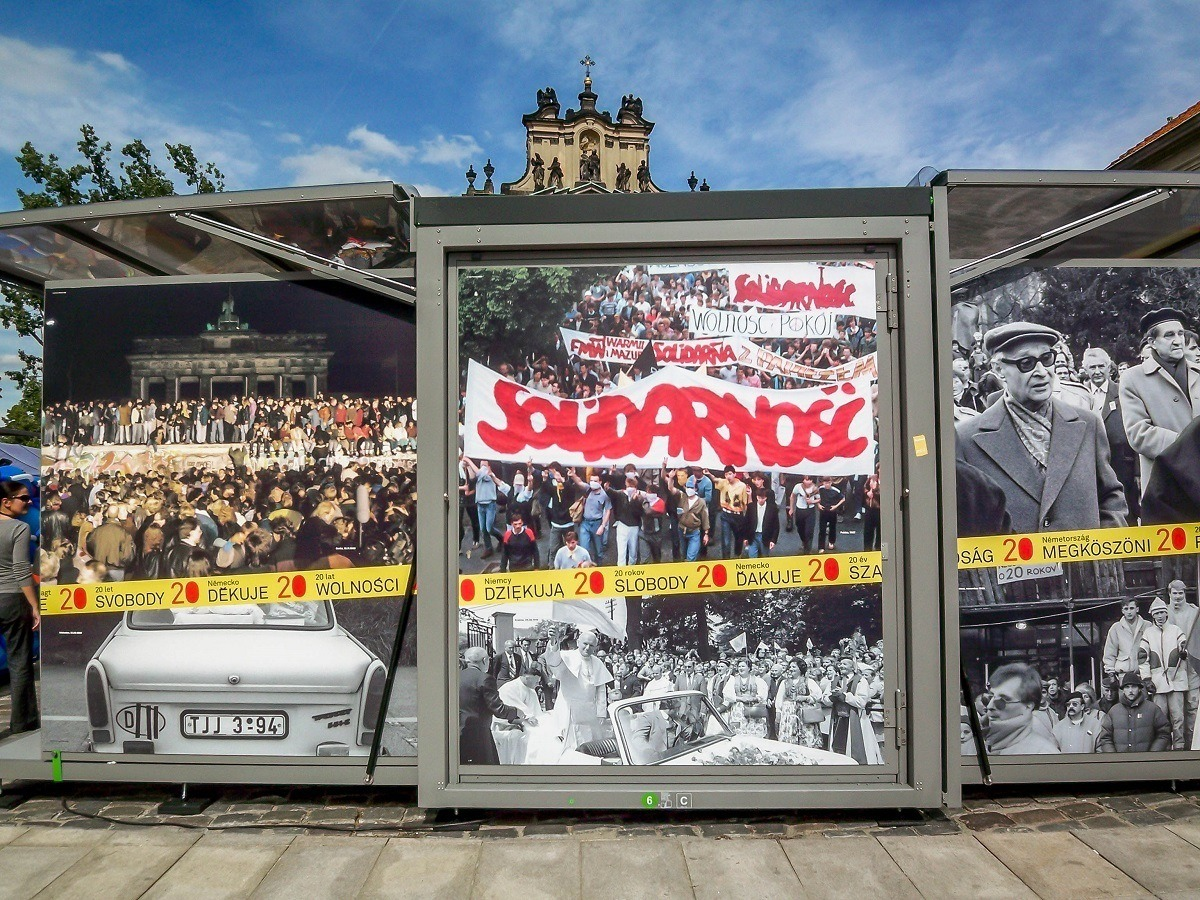 A commemoration for the 20th Anniversary of the fall of the Berlin Wall and Communism in Warsaw, Poland.